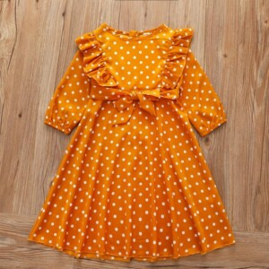 Ruffle Polka Dot Dress for Toddler Girl