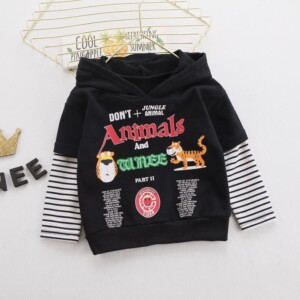 Tiger Pattern Hoodie for Toddler Boy