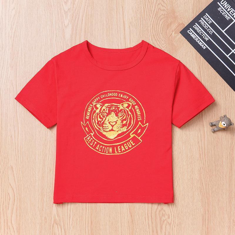 Lion Pattern T-shirt for Toddler Boy