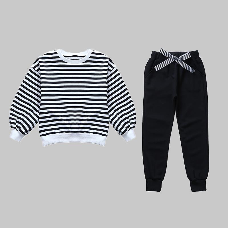 2-piece Striped Sweatshirt & Pants for Girl