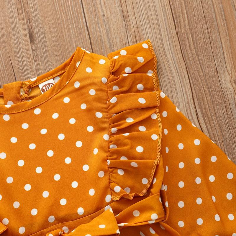Ruffle Polka Dot Dress for Toddler Girl