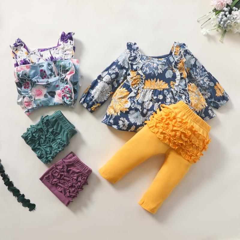 2-piece Floral Long Sleeve T-shirt & Pants for Toddler Girl