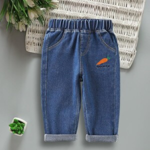 Carrot Pattern Jeans for Toddler Boy