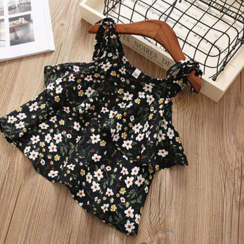 2-piece Floral Sling Top & Shorts for Toddler Girl