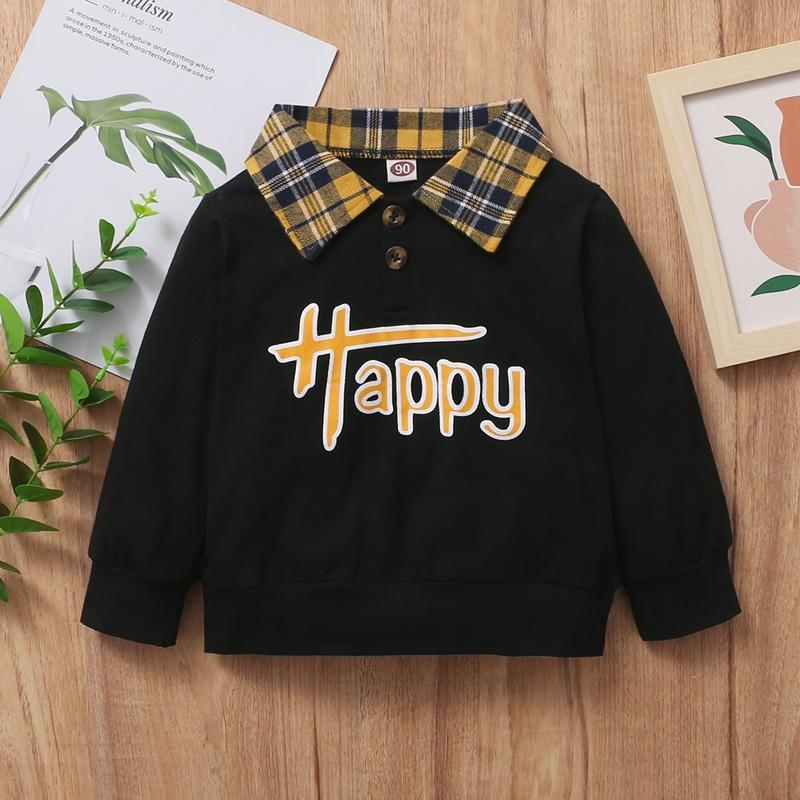 Plaid Sweatshirt for Toddler Boy
