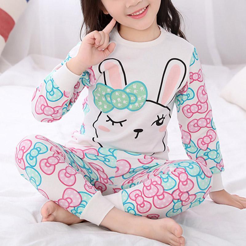 2-piece Cartoon Pattern Pajamas Sets for Girl