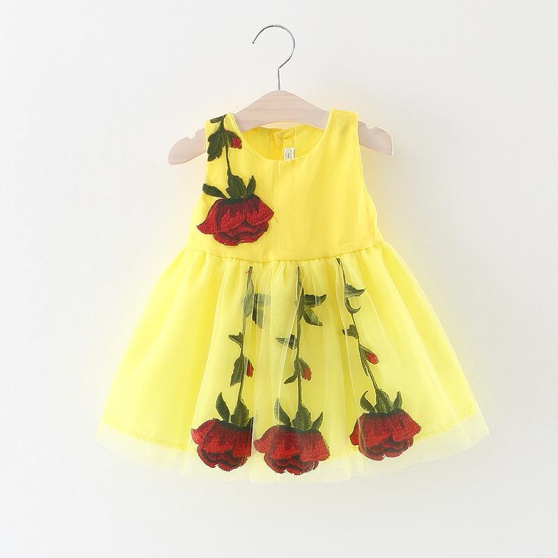 Mesh Floral Dress for Toddler Girl