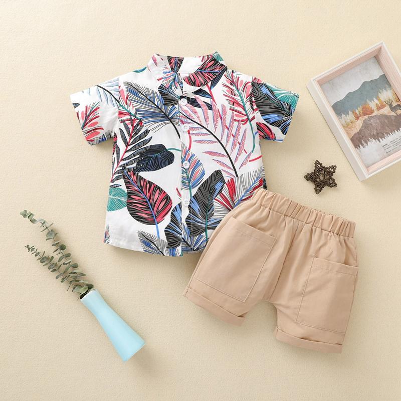 2-piece Short Sleeve Shirt & Shorts for Toddler Boy