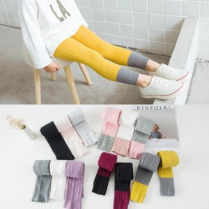 Color-block Ninth Boot Pants for Toddler Girl