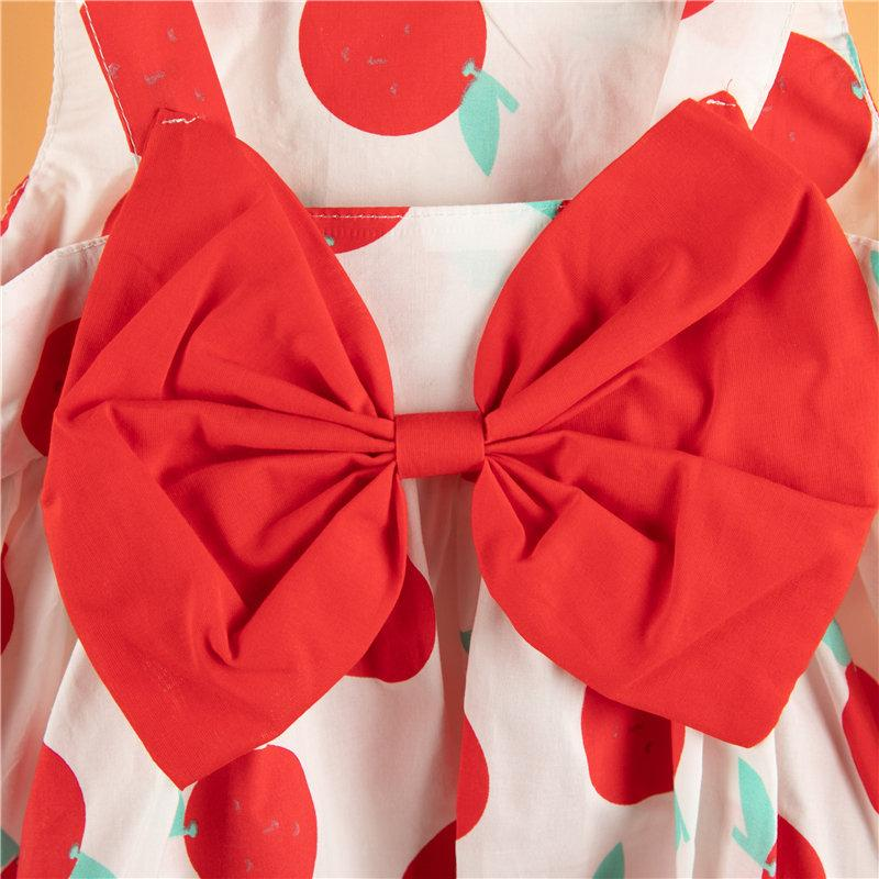2-piece Bowknot Dress & Hat for Toddler Girl