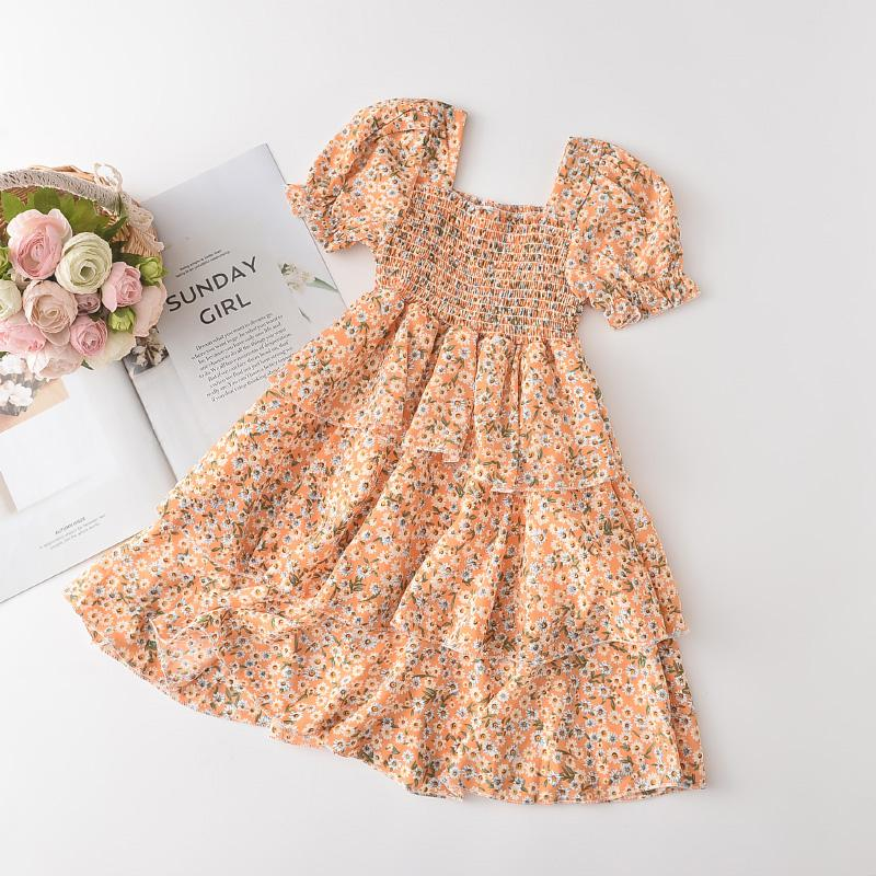 Floral Chiffon Dress for Toddler Girl