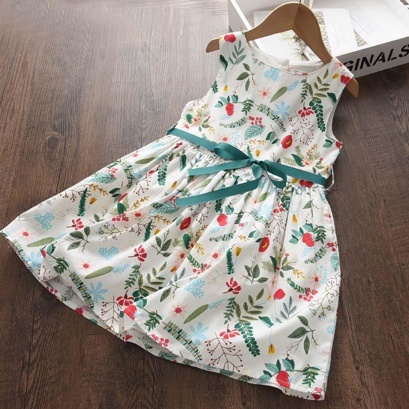 Sleeveless Floral Dress for Toddler Girl