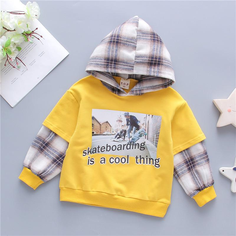Plaid Hoodie for Toddler Boy