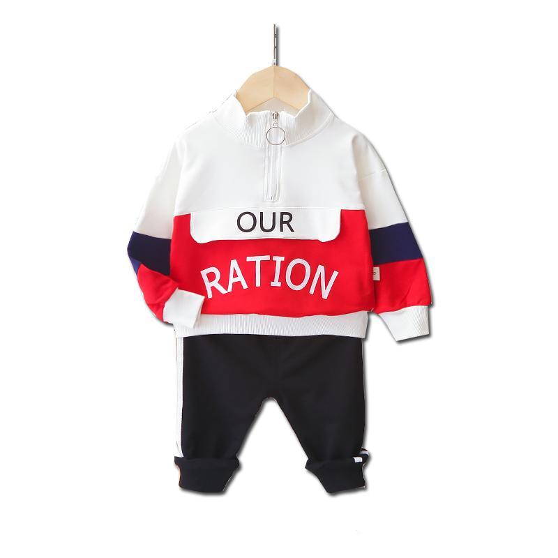 2-piece Letter Pattern Sweatshirt & Pants for Toddler Boy