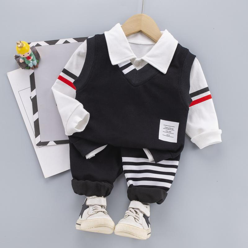 3-piece Vest & Shirt & Pants for Toddler Boy