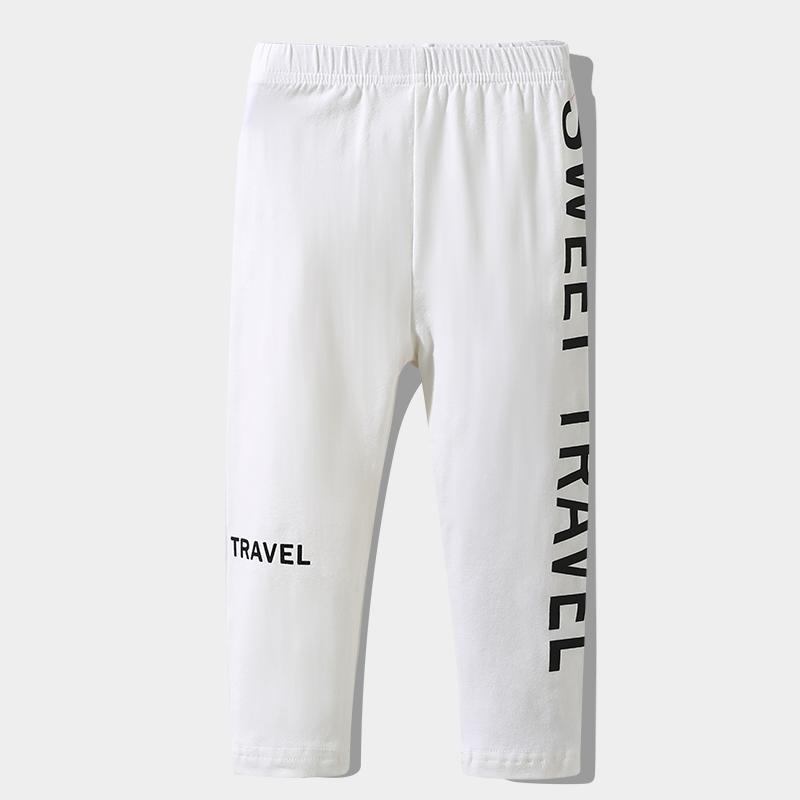 Letter Pattern Boot Pants for Toddler Girl
