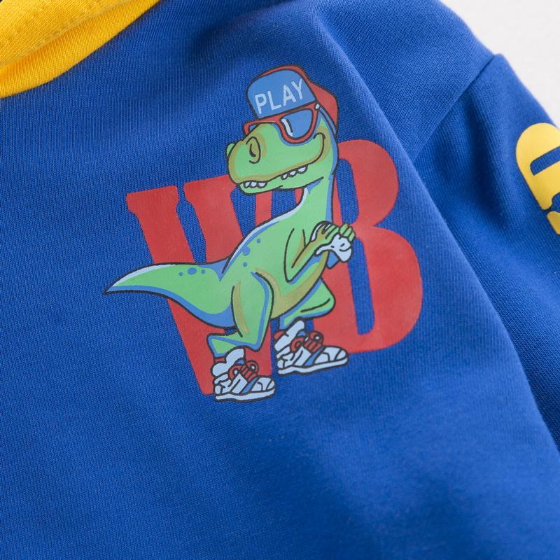 Dinosaur Pattern Hoodie for Toddler Boy