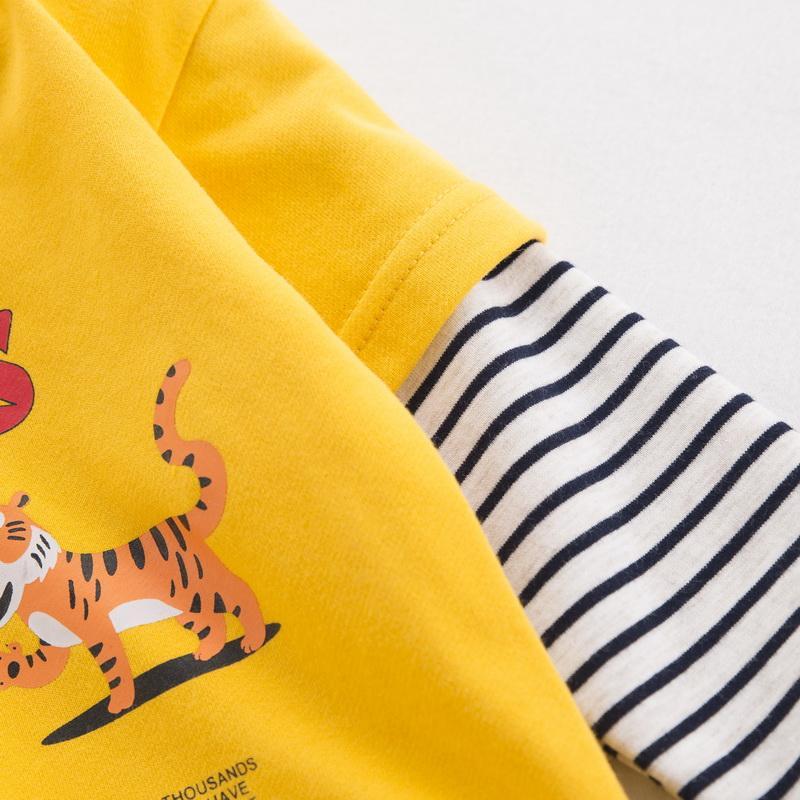 Tiger Pattern Hoodie for Toddler Boy
