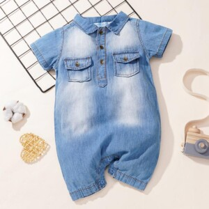 Denim Bodysuit for Baby