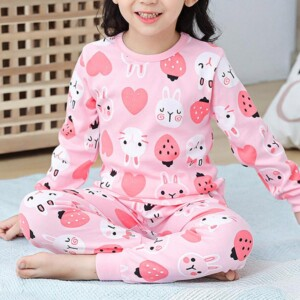 2-piece Cartoon Pattern Pajamas Sets for Girl