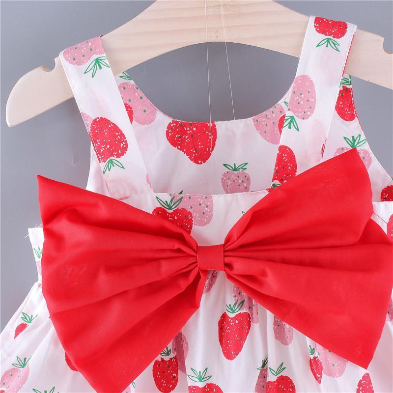 Strawberry Pattern Dress for Toddler Girl