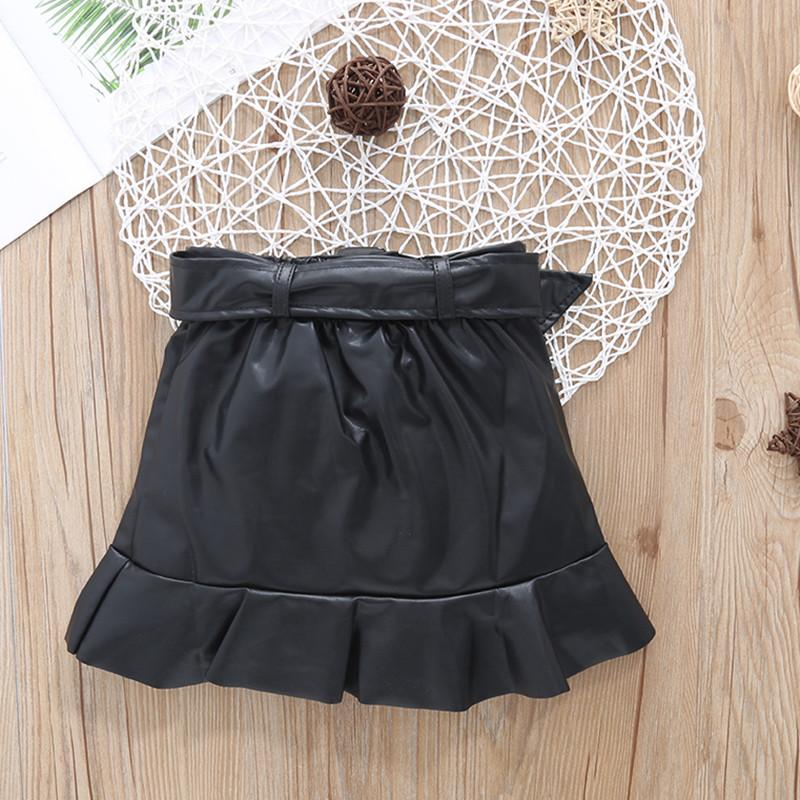 PU Skirt for Toddler Girl
