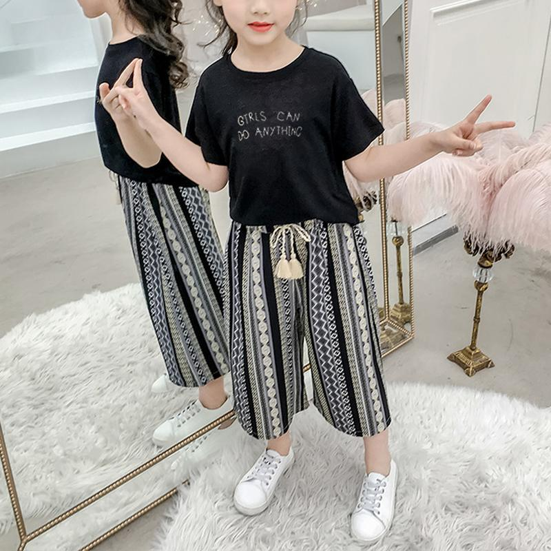 2-piece T-shirt & Ninth Pants for Girl