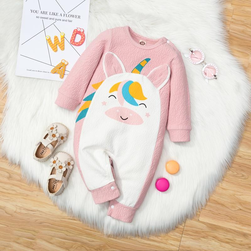 Unicorn Pattern Jumpsuit for Baby Girl