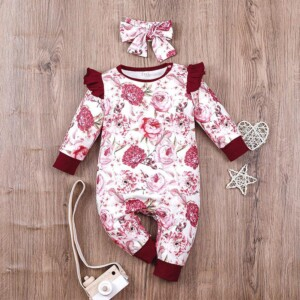 2-piece Romper & Headband for Baby Girl