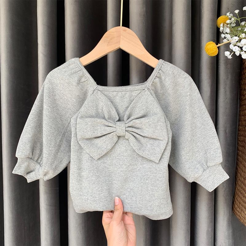 Bowknot Knitted Sweater for Toddler Girl