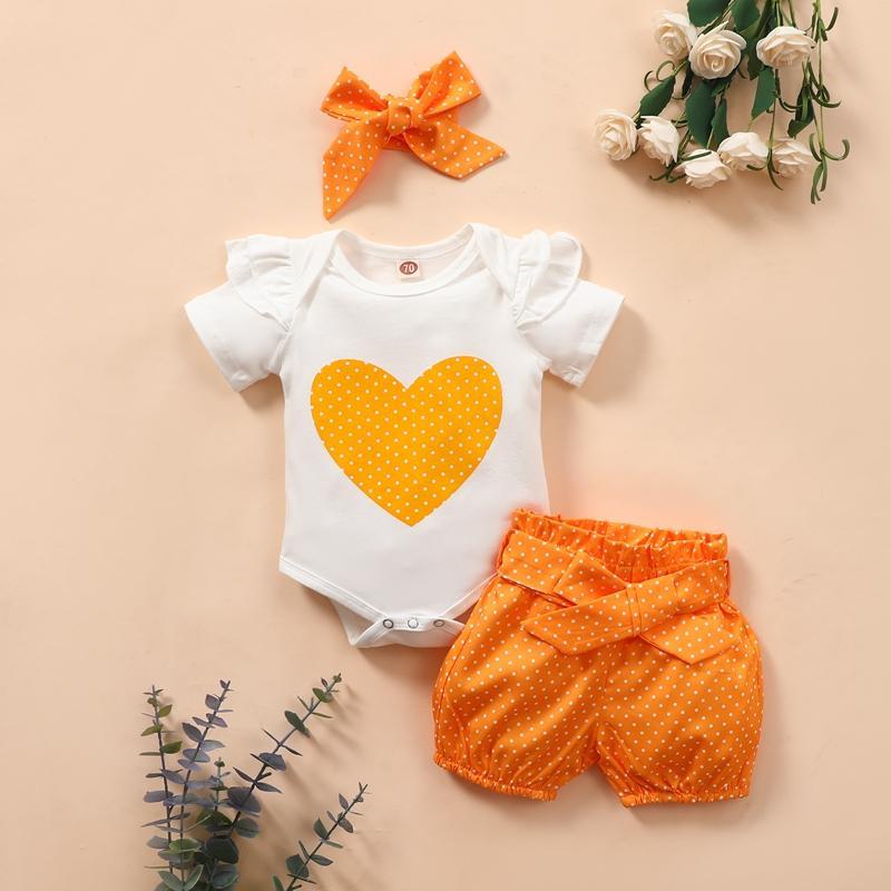 3-piece Headband & Romper & Shorts for Baby Girl