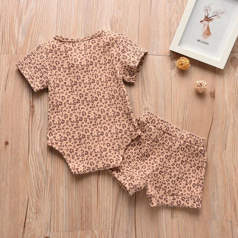 2-piece Leopard Romper & Shorts for Baby Girl