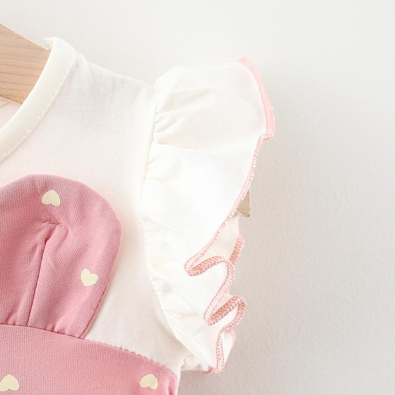 Cat Pattern Dress for Baby Girl