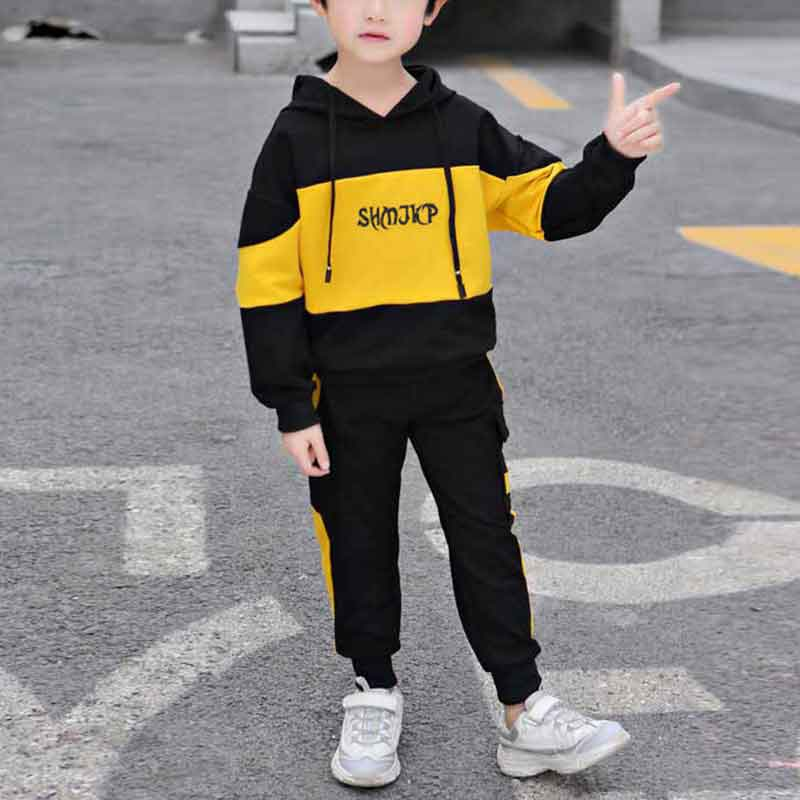 2-pieceColor-block Hoodie & Pants for Boy