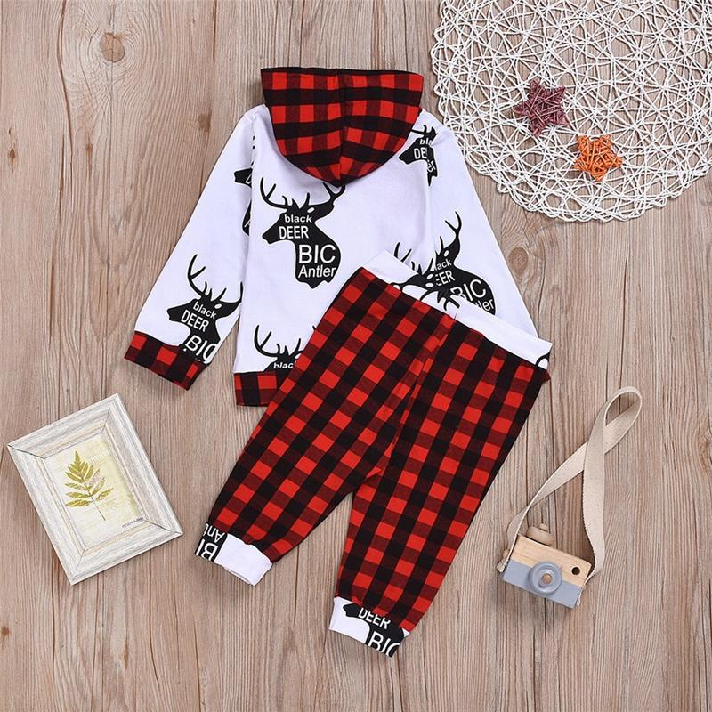 2-piece Hoodie & Plaid Pants for Baby