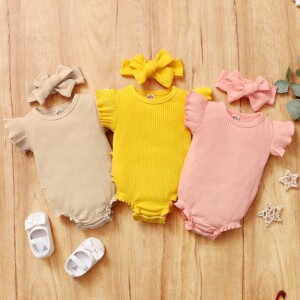 2-piece Headband & Romper for Baby Girl