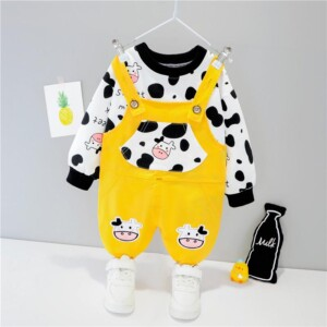 2-piece Sweatshirt & Bib Pants for Toddler Boy