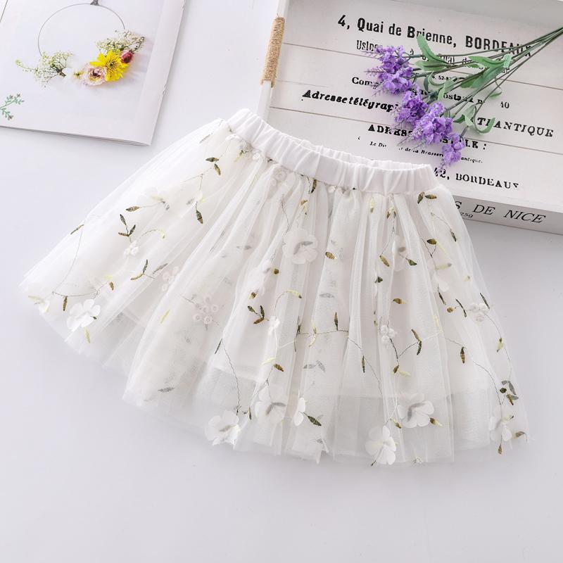 Floral Mesh Skirt for Girl