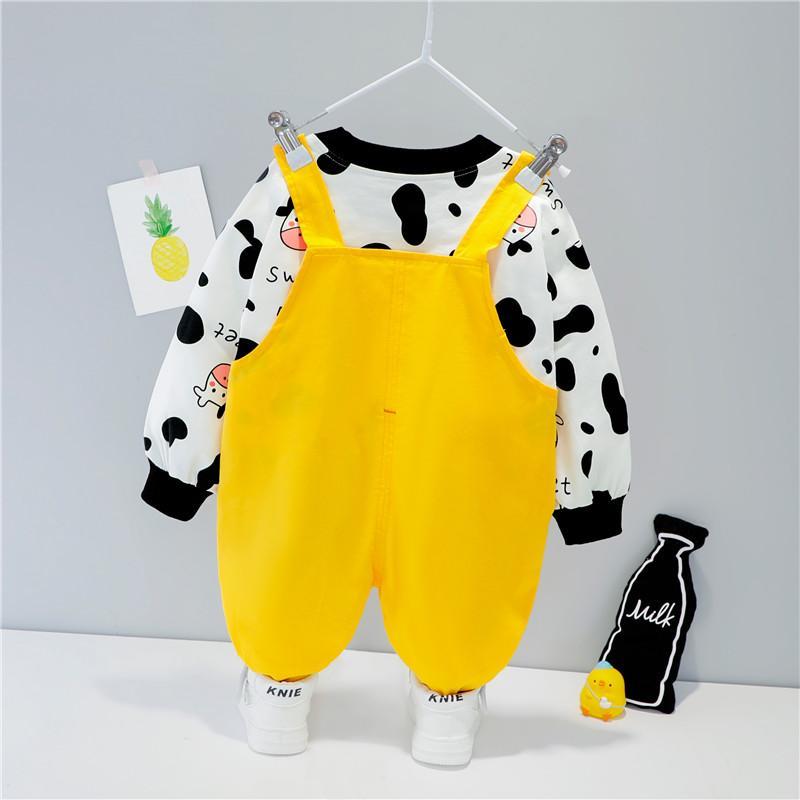 2-piece Sweatshirt & Bib Pants for Toddler Boy
