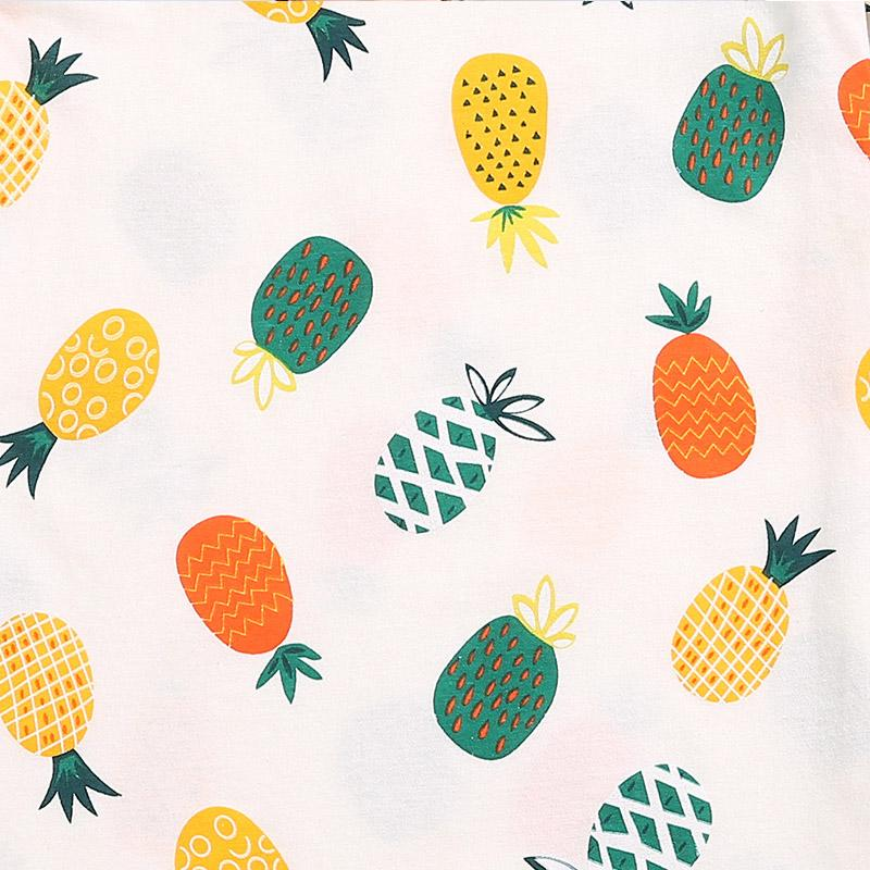 Pineapple Pattern Pajamas Dress for Girl