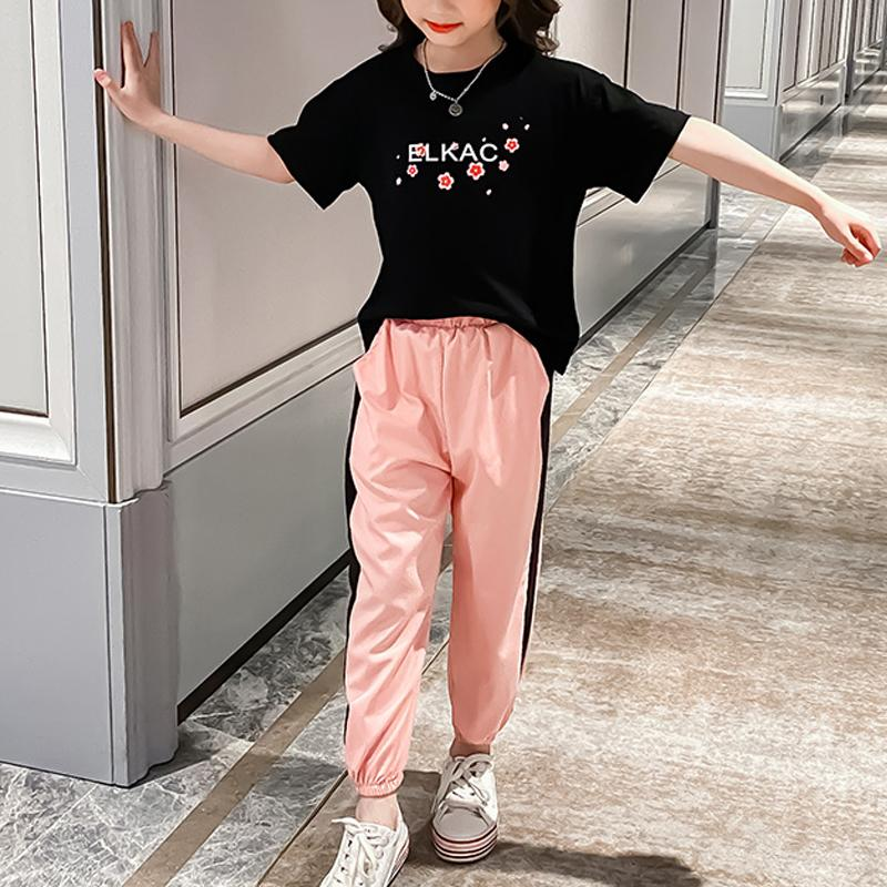 2-piece Floral T-shirt & Pants for Girl