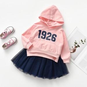 2-piece Hooded & Skirt for Toddler Girl
