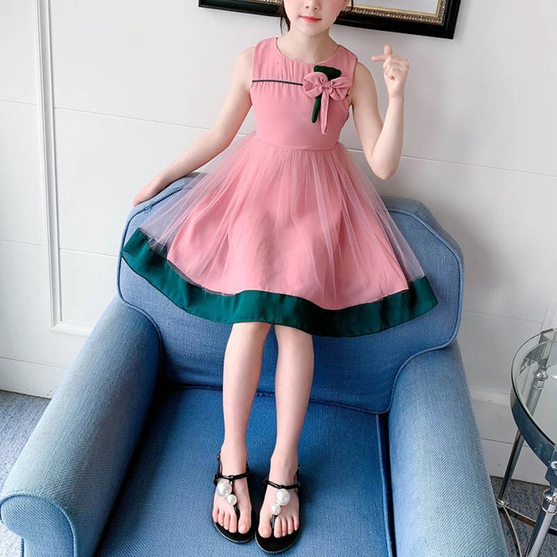 Bowknot Mesh Dress for Girl
