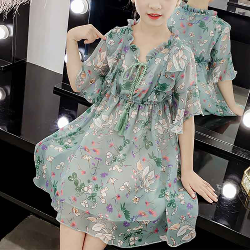 Floral Chiffon Dress for Girl