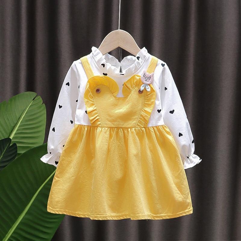Heart-shaped Pattern Dress for Toddler Girl