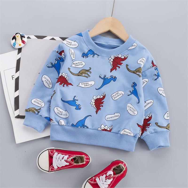 Dinosaur Pattern Sweatshirt for Toddler Boy