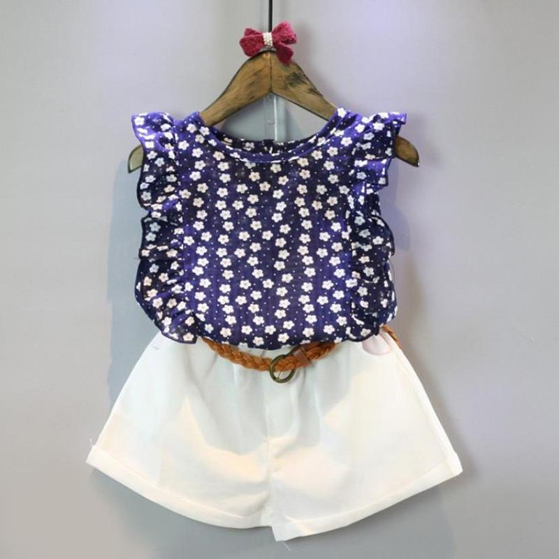 2-piece Floral Sleeveless Top & Shorts for Toddler Girl