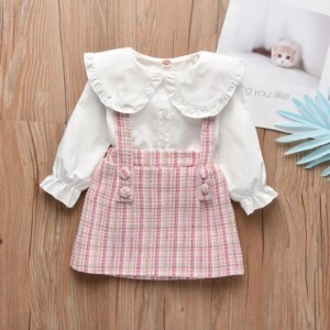 2-piece Strap Dress & Shirt for Toddler Girl