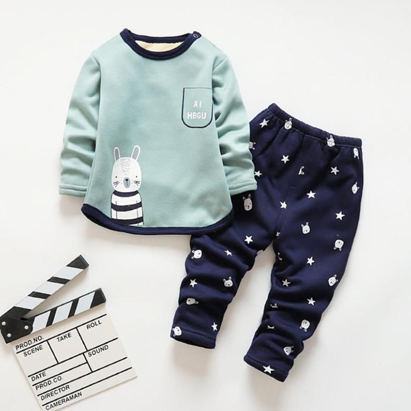 2-piece Animal Pattern Tops & Pants for Toddler Girl