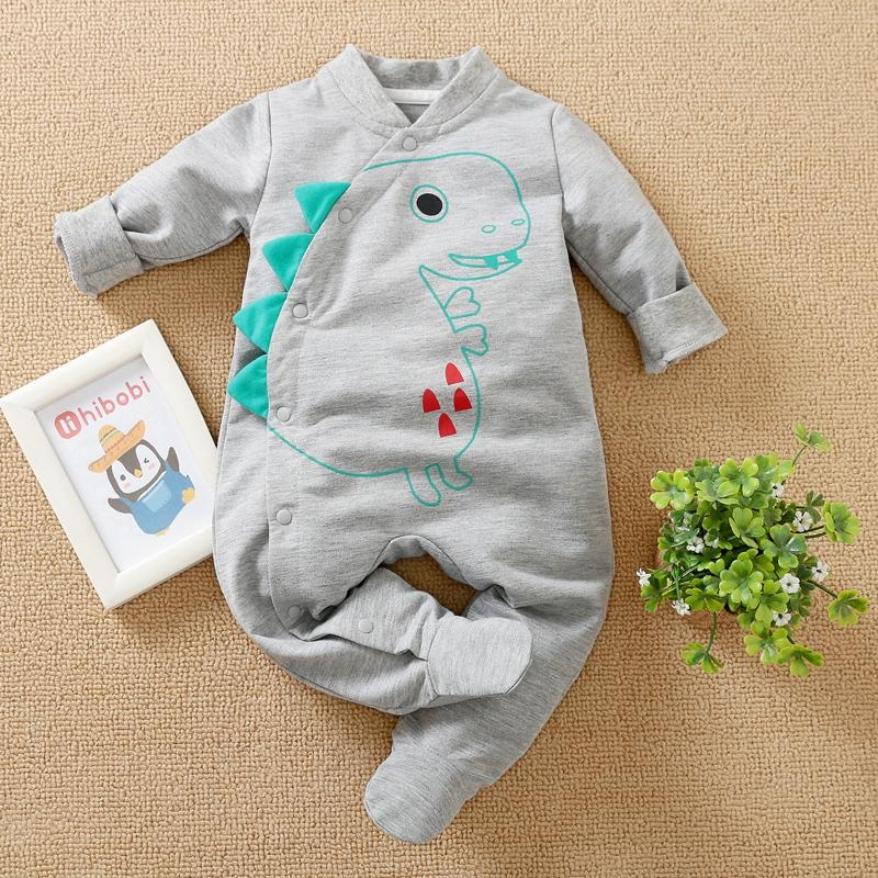 Dinosaur Pattern Jumpsuit for Baby Boy